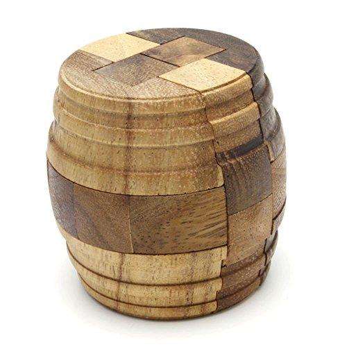 BRAIN GAMES Barrel Wooden Puzzle