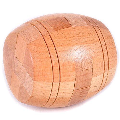 KINGOU Boutique Wooden Primary barrels lock Logic Puzzle Burr Puzzles Brain Teaser Intellectual Removing Assembling Toy