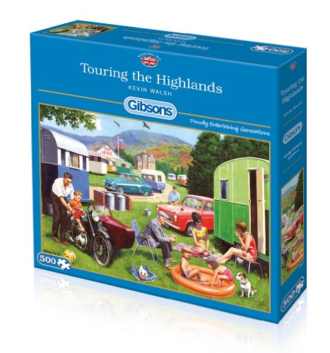 Gibsons Touring The Highlands Jigsaw Puzzle 500-Piece