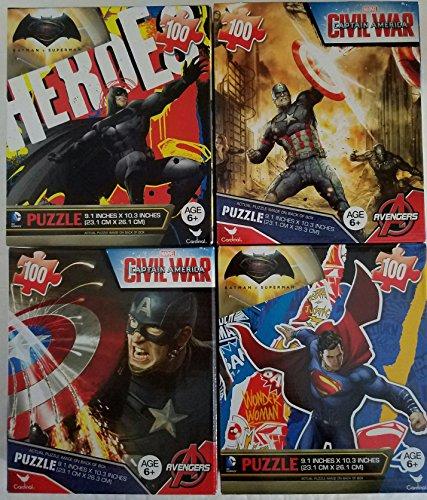 CARDINAL GAMES BUNDLE OF 4 4 X 100 PIECE BOXED PUZZLES