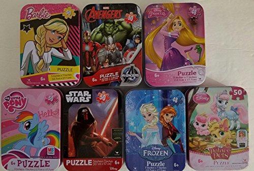CARDINAL GAMES BUNDLE OF 7 COLLECTORS TIN PUZZLE 5 X 50 PIECE PUZZLES 2 X 48 PIECE PUZZLES