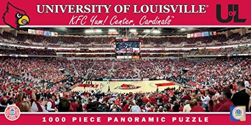 NCAA Louisville Cardinals Stadium Puzzle 1000-Piece Small Gray