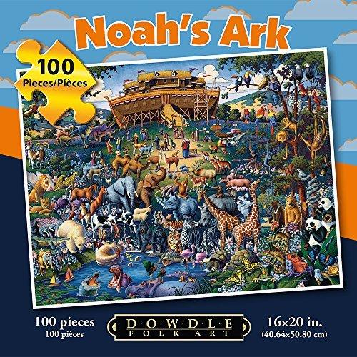 Dowdle Folk Art Noahs Ark 100pc 16x20 Puzzles