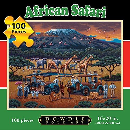 Jigsaw Puzzle - African Safari 100 Pc By Dowdle Folk Art