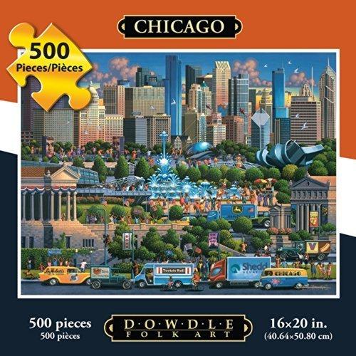Jigsaw Puzzle - Chicago 500 Pc By Dowdle Folk Art by Dowdle Folk Art