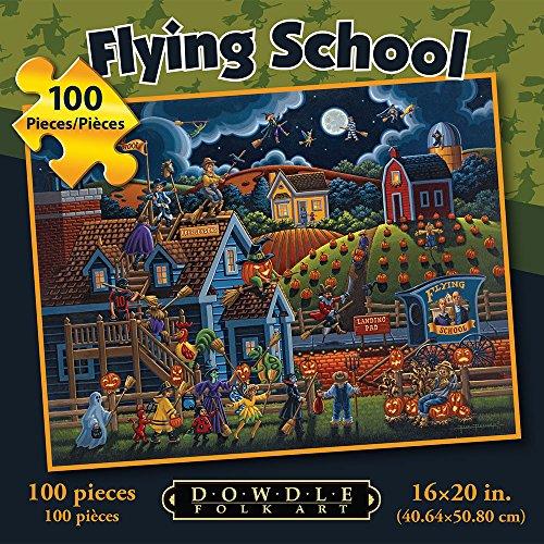 Jigsaw Puzzle - Flying School 100 Pc By Dowdle Folk Art