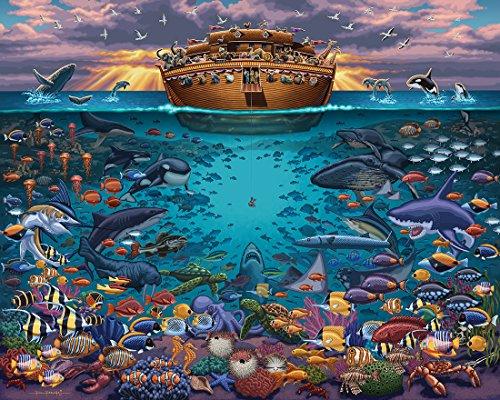 Jigsaw Puzzle - Noahs Ark Under the Sea 100 Pc By Dowdle Folk Art