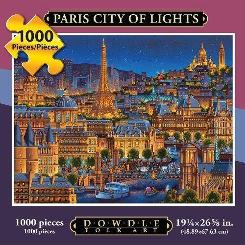 Jigsaw Puzzle - Paris City of Lights 1000 Pc By Dowdle Folk Art by Dowdle Folk Art
