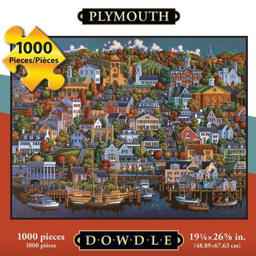 Jigsaw Puzzle - Plymouth 1000 Pc By Dowdle Folk Art