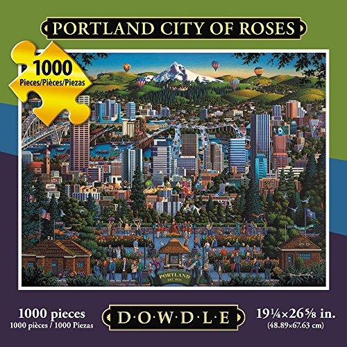 Jigsaw Puzzle - Portland City of Roses 1000 Pc By Dowdle Folk Art