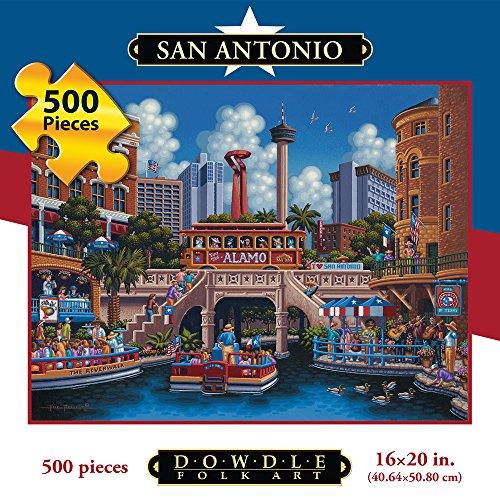 Jigsaw Puzzle - San Antonio 500 Pc By Dowdle Folk Art