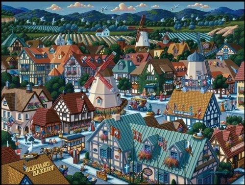 Jigsaw Puzzle - Solvang 500 Pc By Dowdle Folk Art