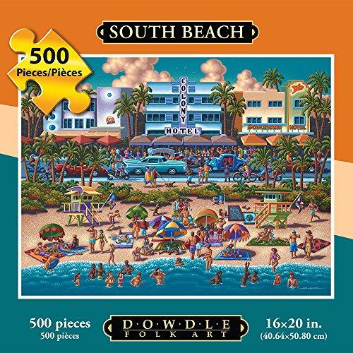 Jigsaw Puzzle - South Beach 500 Pc By Dowdle Folk Art
