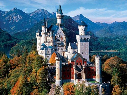 Buffalo Games Majestic Castles Neuschwanstein Castle - 750 Piece Jigsaw Puzzle by Buffalo Games