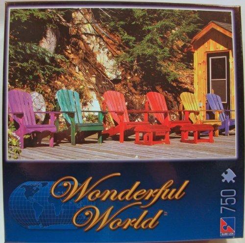Wonderful World 750 Piece Jigsaw Puzzle Muskoka Chairs