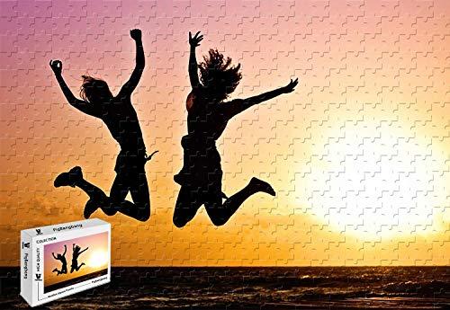 PigBangbang206 X 151 InchIntellectiv Games Basswood Jigsaw Puzzle with Glue - Beach Youthful Joy - 300 Piece Jigsaw Puzzle