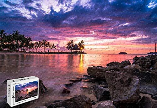PigBangbang206 X 151 InchPremium Basswood - Beach Resort Sunset - 500 Piece Jigsaw Puzzle