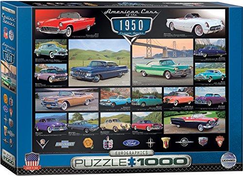 EuroGraphics 1950s Cruisin Classics Jigsaw Puzzle 1000-Piece