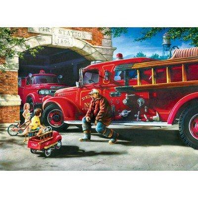 MasterPieces Firehouse Dreams Jigsaw Puzzle Art by Dan Hatala 1000-Piece