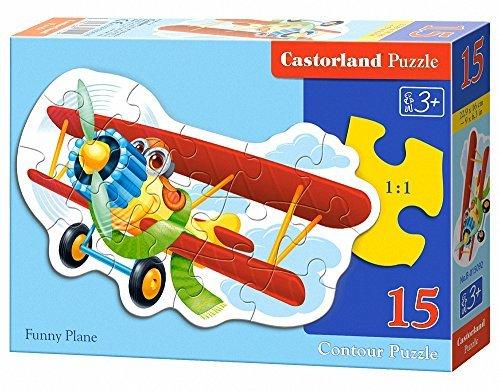 Castorland Midi Funny Plane Jigsaw Puzzle 15-Piece Multi-Colour by Castorland