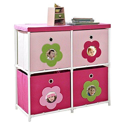Kids 4 Cube Toy Organizer Toy Storage Bin
