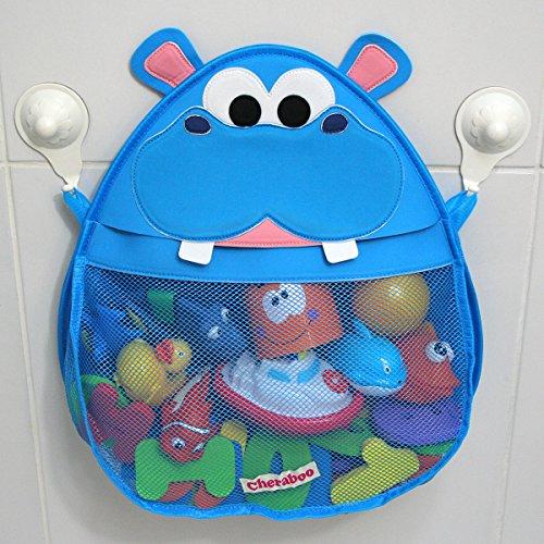 Hurley Hippo Bath Toy Organizer Blue