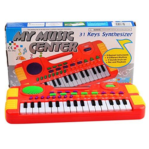 Kids Electronic Keyboard Piano PeleusTech 31 Key Synthesizer Electronic Keyboard Piano Musical Toy for Children - Red
