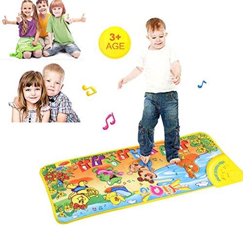 LandFox Toy Kids Touch Play Keyboard Musical Music Singing Gym Carpet Mat72cm x28cm