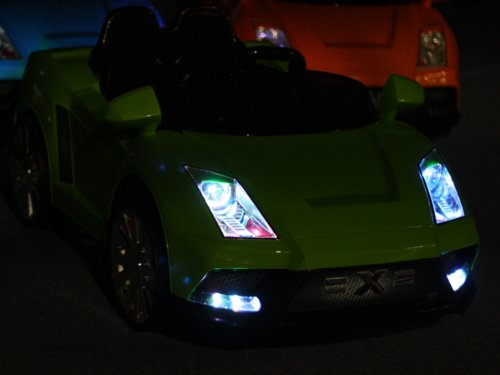 NEW LAMBORGHINI RACER-X STYLE RIDE ON 12V TWO SPEED BATTERY POWERED KIDS TOY CAR - WITH REMOTE CONTROL 2013 STYLE