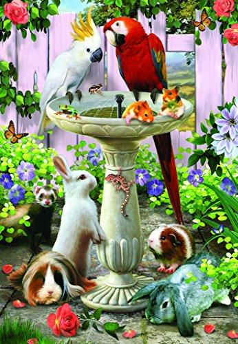 Bird Bath - 100 Piece Jigsaw Puzzle By SunsOut Inc
