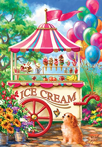 Ice Cream Cart a 100-Piece Jigsaw Puzzle by Sunsout Inc