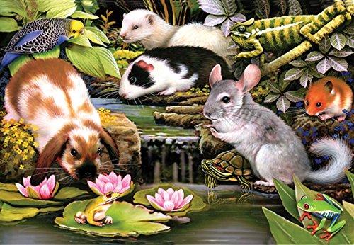 Poolside Pets a 100-Piece Jigsaw Puzzle by Sunsout Inc