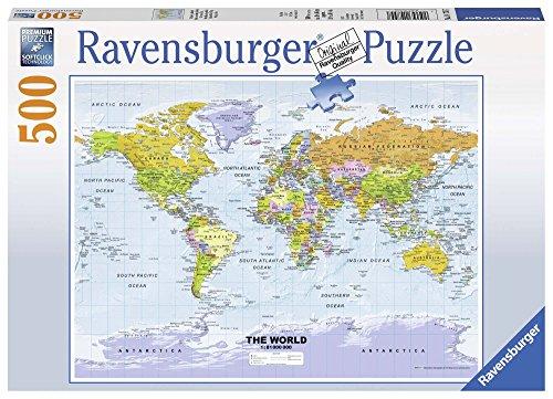 Ravensburger Political World map Jigsaw Puzzle 500 Piece