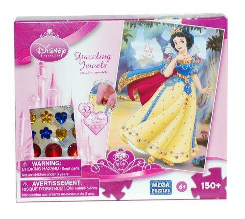 Disney Princess Snow White Dazzling Jewels 150 Piece Puzzle with Gem Stickers