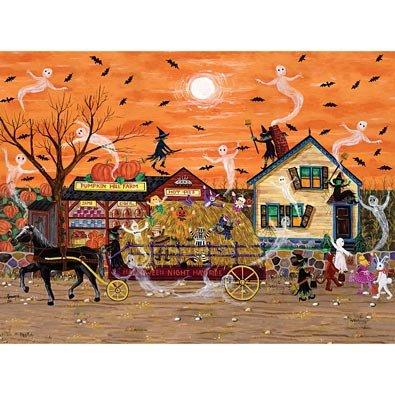 Halloween Hayride 300 Large Piece Jigsaw Puzzle