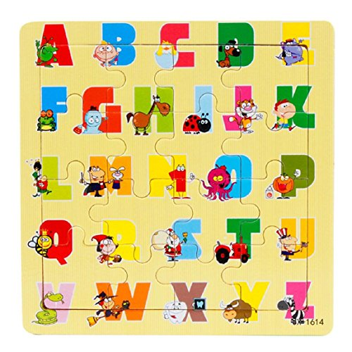DKmagic Kids Children Wooden Jigsaw Puzzles Education Learning Puzzles Toys