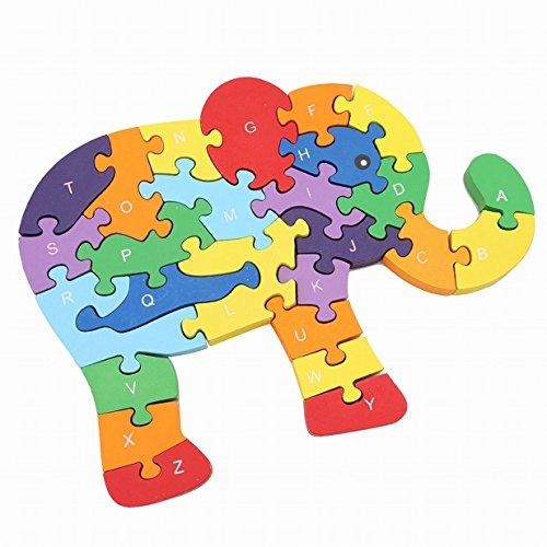 Edtoy Wooden jigsaw puzzle children toy Elephant