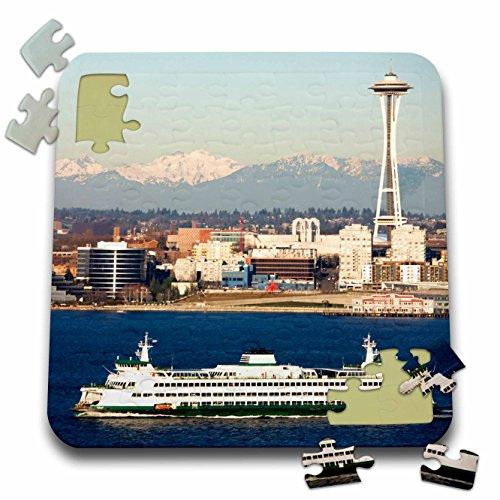 Danita Delimont - Seattle - WA Seattle skyline Elliott Bay Space Needle - US48 JWI2224 - Jamie and Judy Wild - 10x10 Inch Puzzle pzl_96188_2
