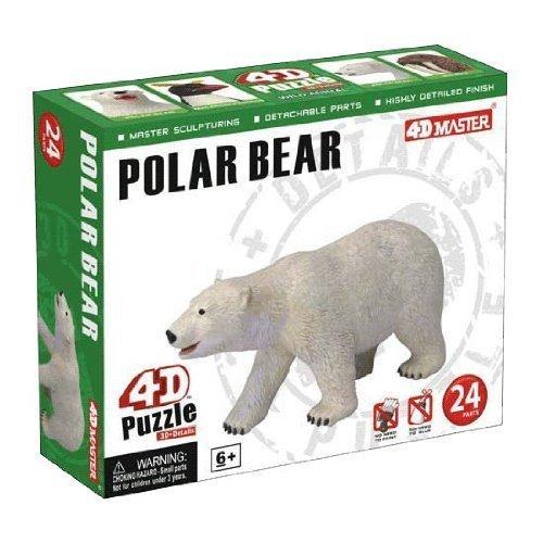 4D Master Polar Bear Model Puzzle 24 Piece One Color