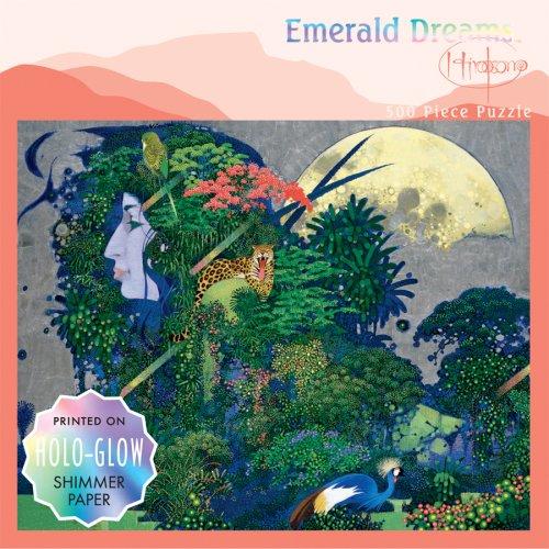 500 Piece Emerald Dreams Holo-Glow Puzzle - Leopard