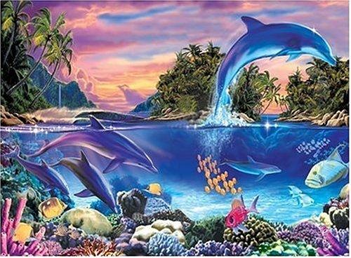 Dolphin Paradise - 1000 Pc Glow Puzzle