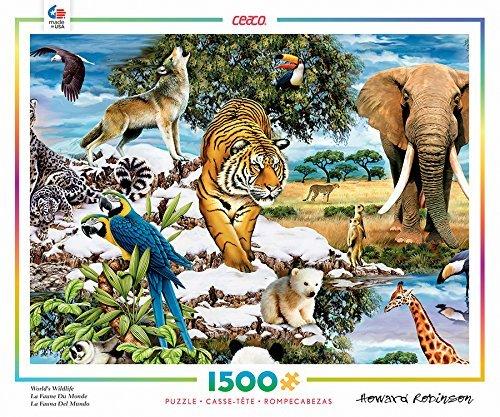 Ceaco Howard Robinson - Worlds Wildlife Puzzle 1500 Piece by Ceaco