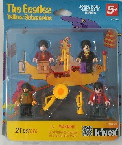 Knex Beatles Yellow Submarine Minifigures John Paul George and Ringo
