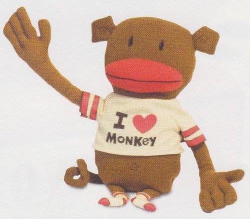 I Love Monkey Plush