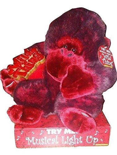 Music Light Up Red Love Monkey Wild Thing Dandee Ape Stuffed Animal