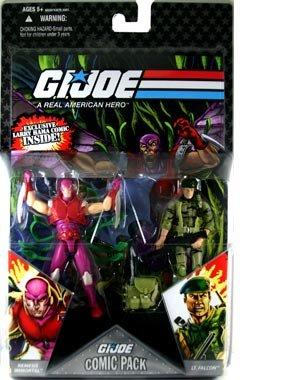 GI Joe Hasbro 25th Anniversary 3 34 Wave 5 Action Figures Comic Book 2Pack Falcon Nemesis Enforcer