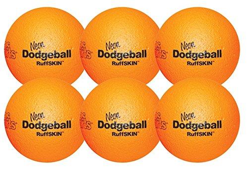 RuffSkin Neon Orange Dodgeball 6 Set of Six