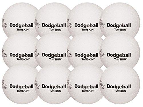 TuffSKIN Foam Dodgeball Set of 12 White