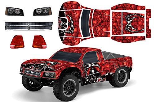 Designer Decal for Losi TEN-SCTE 110 LOSB8028 AMRRACING RC Kit - Reaper - Red