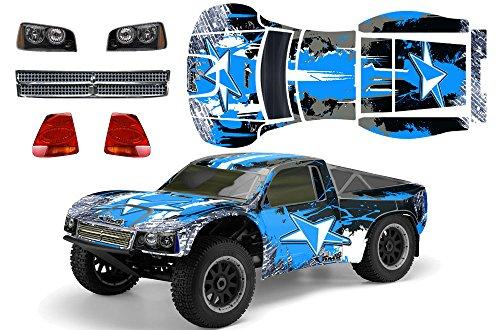 Designer Decal for Losi TEN-SCTE 110 LOSB8028 AMRRACING RC Kit - Street Star - BlueBlack